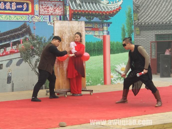 中华园大马戏团飞刀表演