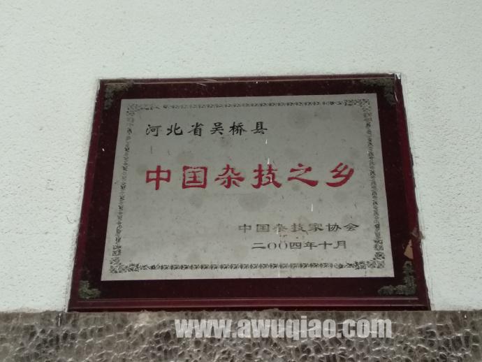 吴桥被中国杂技家协会授予中国杂技之乡称号