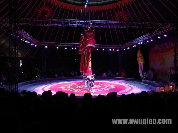 红牡丹剧场杂技大棚演出