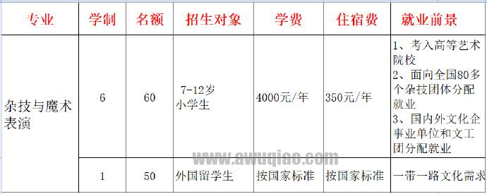河北吴桥杂技艺术学校招生政策