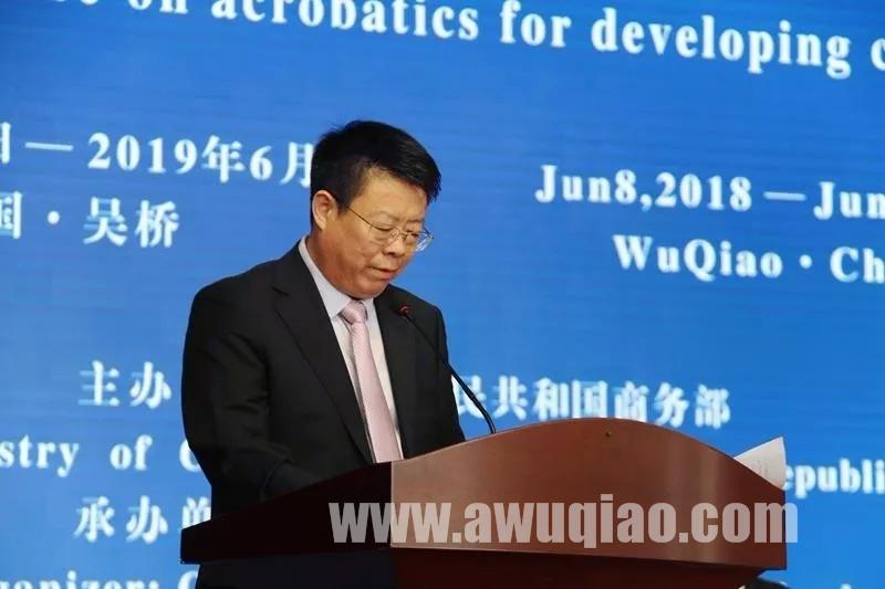沧州市文广旅局副局长、河北吴桥杂技艺术学校校长雷武先生致辞